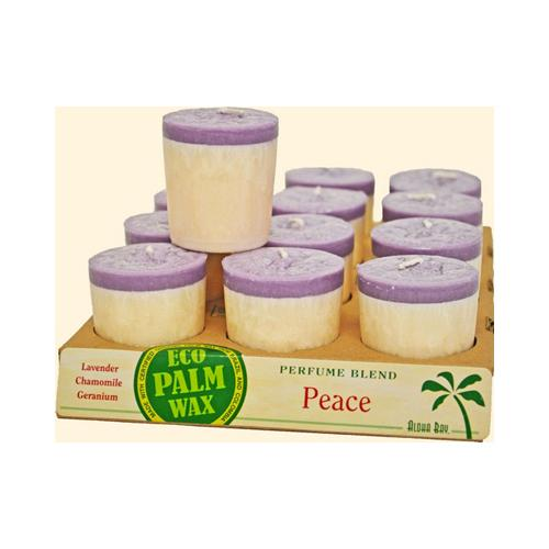 Aloha Bay Votive Candle Peace (12x2 Oz)