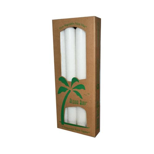 Aloha Bay Palm Tapers White (4 Candles)