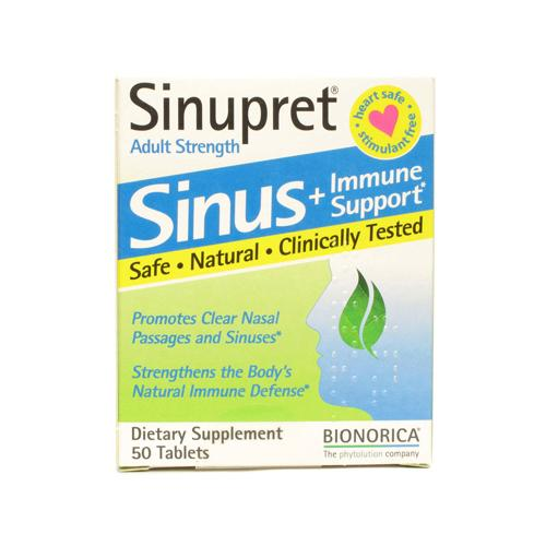 Sinupret Bionorica Sinus Immune Support Adult Strength 50 Tablets