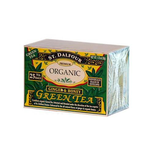 St Dalfour Organic Green Tea Ginger And Honey (6x25 Tea Bags)