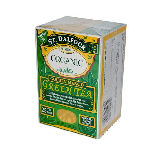 St Dalfour Organic Green Tea Golden Mango (6x25 Tea Bags)