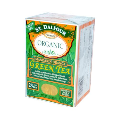 St Dalfour Organic Mandarin Orange Green Tea Mandarin Orange  (6x25 Bags)
