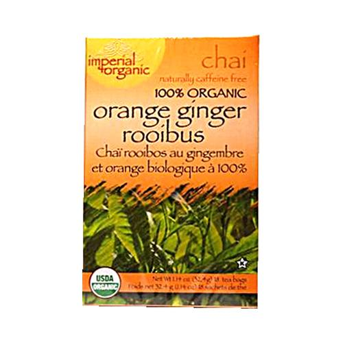 Uncle Lee's Imperial Organic Orange Ginger Rooibus Chai Tea (1x18 Tea Bags)