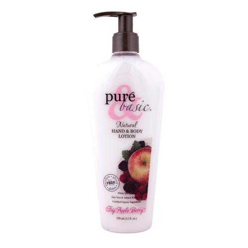Pure And Basic Natural Bath And Body Lotion Fuji Apple Berry (12 Fl Oz)