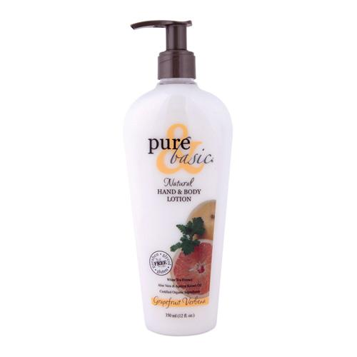 Pure And Basic Natural Bath And Body Lotion Grapefruit Verbena (12 Fl Oz)