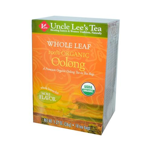 Uncle Lee's Tea 100% Organic Oolong Tea Whole Leaf (12 Pack) 18 Bag