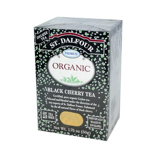 St Dalfour Organic Tea Black Cherry (6x25 Tea Bags)