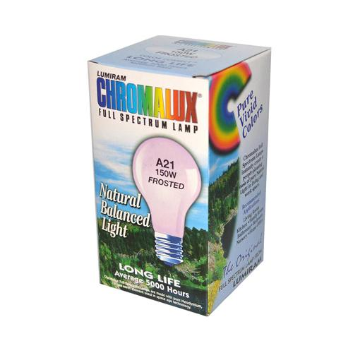 Chromalux Frosted Light Bulb 150 Watt 150 Bulb