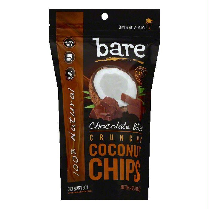 Bare Chocolate Bliss Crunchy Coconut Chips, 1.4 OZ (Pack of 12)
