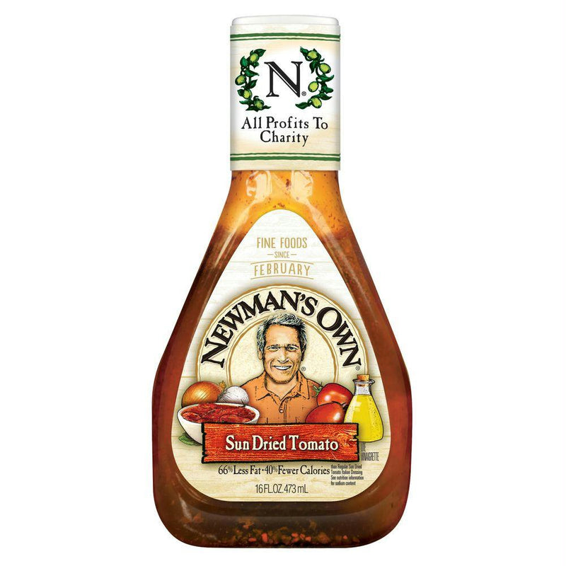 Newmans Own Sun Dried Tomato Dressing, 16 OZ (Pack of 6)