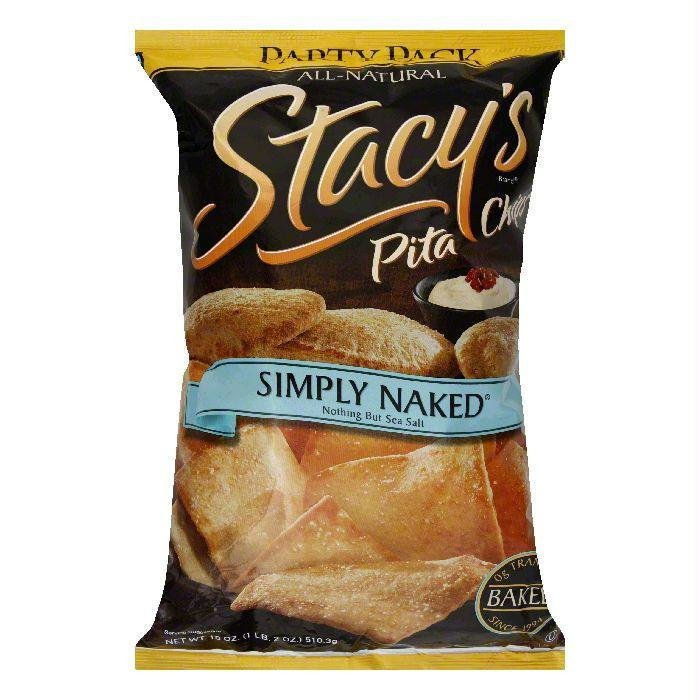 Stacy's Simply Naked Pita Chip, 18 OZ (Pack of 6)