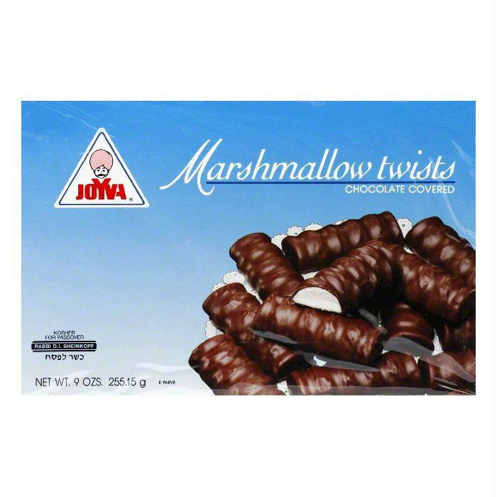 Joyva Marshmallow Twists Chocolate Covered Vanilla, 9 OZ (Pack of 24)