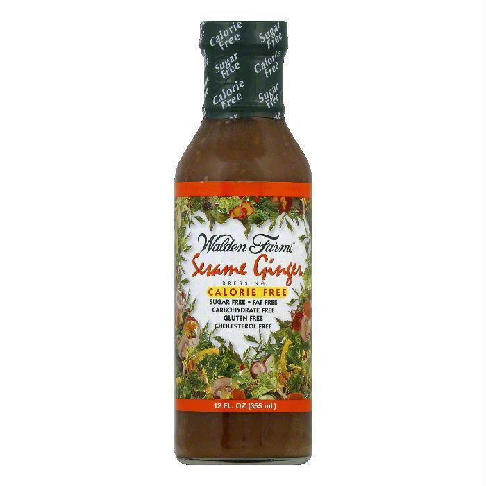 Walden Farms Sesame Ginger Dressing, 12 OZ (Pack of 6)
