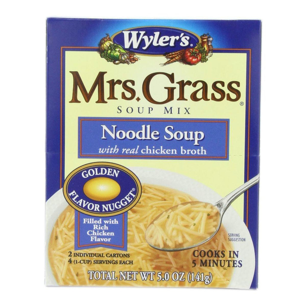 Mrs. Grass Noodle Soup Mix with Real Chicken Broth, 5 Oz (Pack of 12)