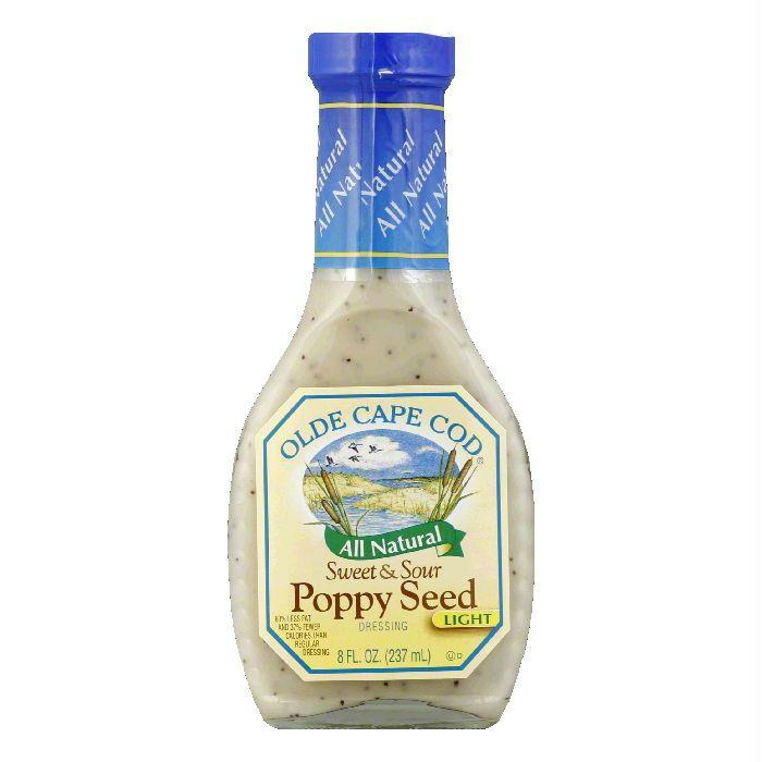 Olde Cape Cod Dressing Sweet & Sour Poppyseed Lite, 8 OZ (Pack of 6)