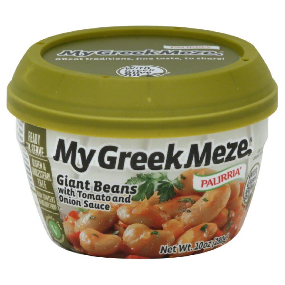 Palirria My Greek Meze Giant Beans with Tomato and Onion Sauce, 10 Oz (Pack of 6)