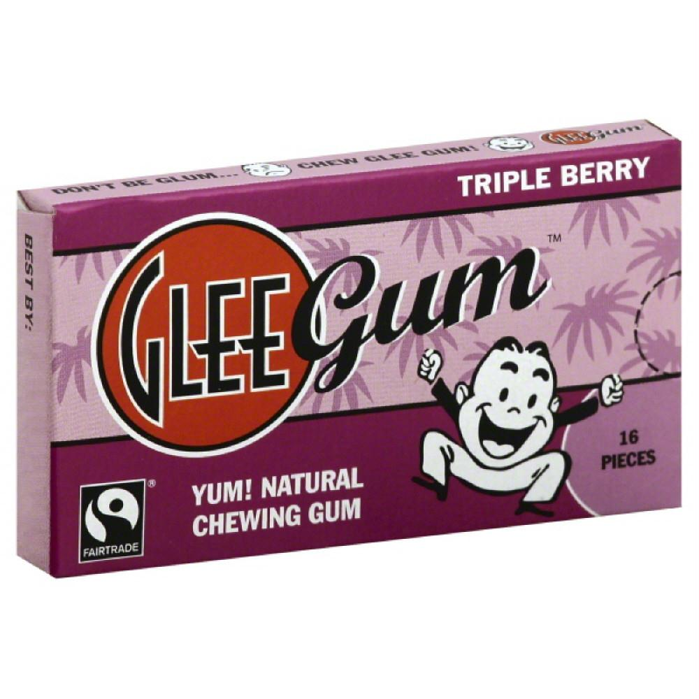 Glee Gum Triple Berry Chewing Gum, 16 Pc (Pack of 12)