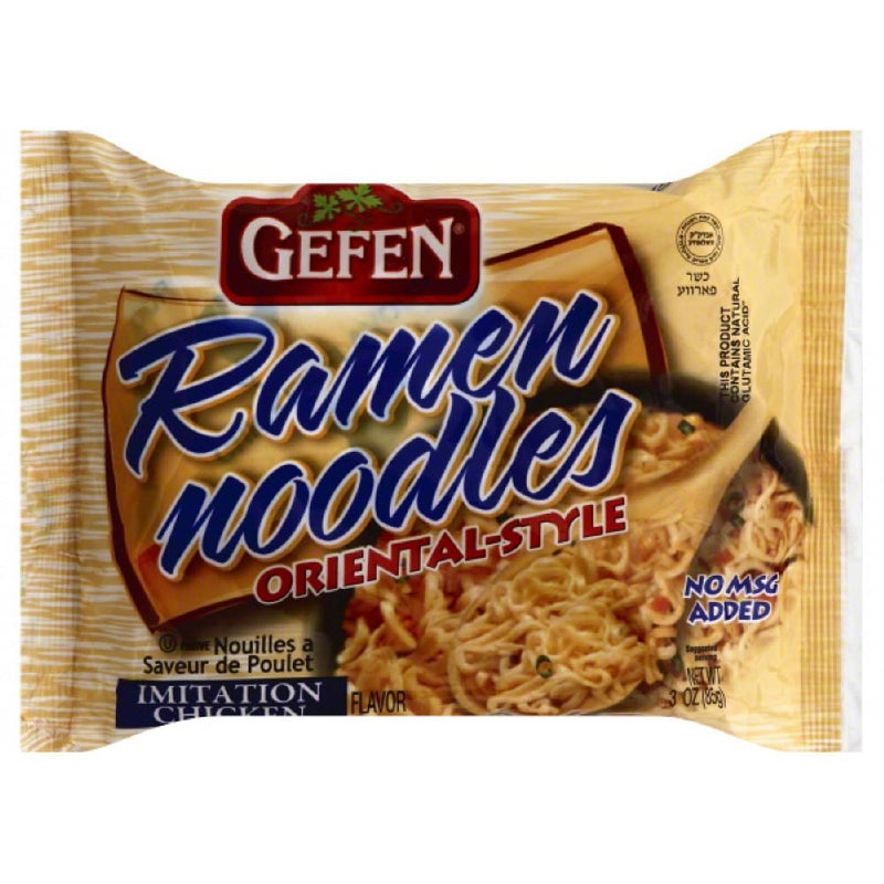 Gefen Imitation Chicken Flavor Oriental-Style Ramen Noodles, 3 Oz (Pack of 24)