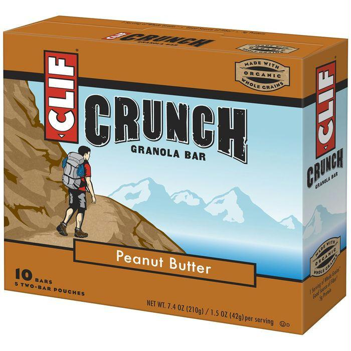 CLIF Crunch Peanut Butter Granola Bars 10 ct (Pack of 12)