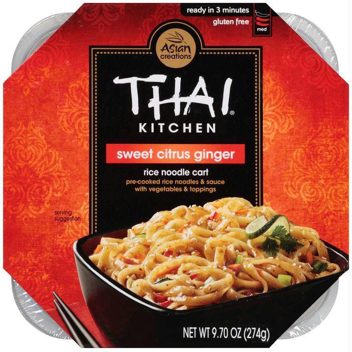 Thai Kitchen Rice Noodle Cart Sweet Citrus Ginger 9.70 Oz Microwave Bowl (Pack of 6)