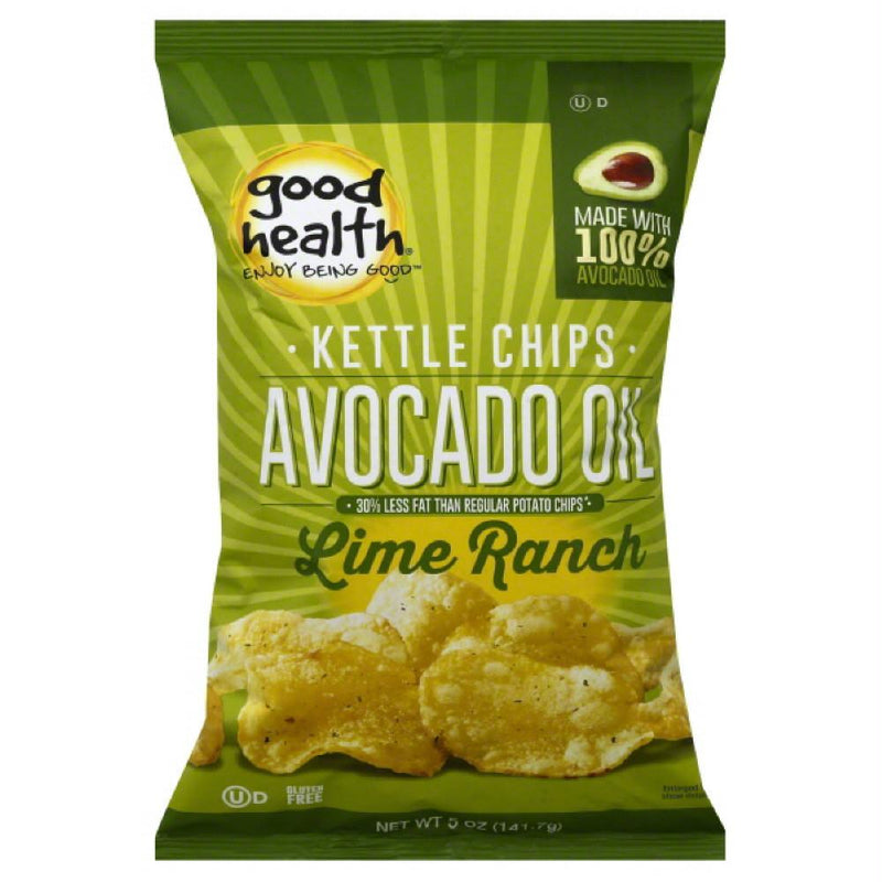 Good Health Lime Ranch Avocado Oil Kettle Chips, 5 Oz (Pack of 12)