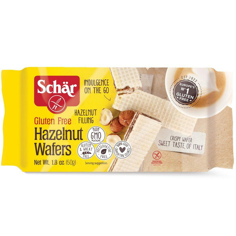 Schar Hazelnut Wafers, 1.8 Oz (Pack of 20)