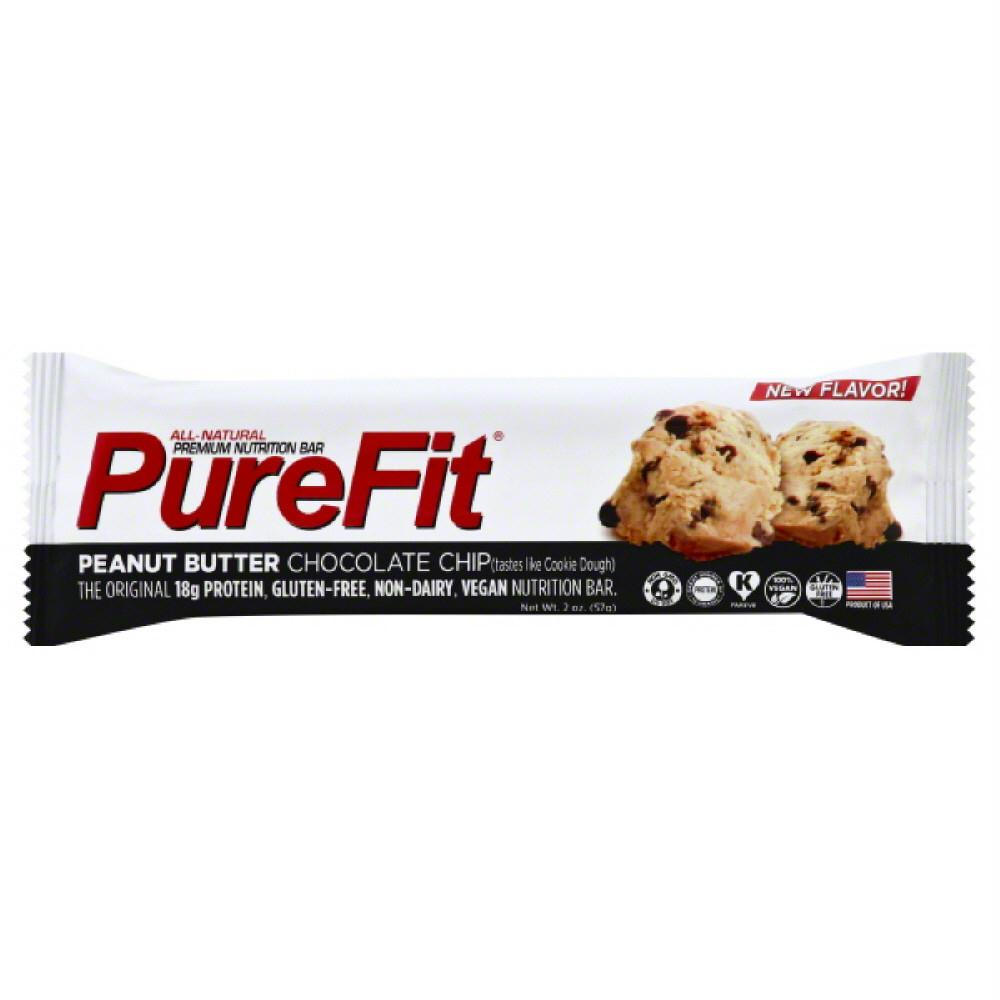 PureFit Peanut Butter Chocolate Chip Premium Nutrition Bar, 2 Oz (Pack of 15)