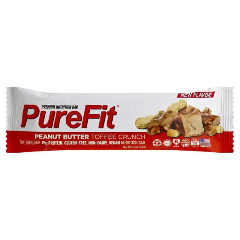 PureFit Peanut Butter Toffee Crunch Premium Nutrition Bar, 2 Oz (Pack of 15)