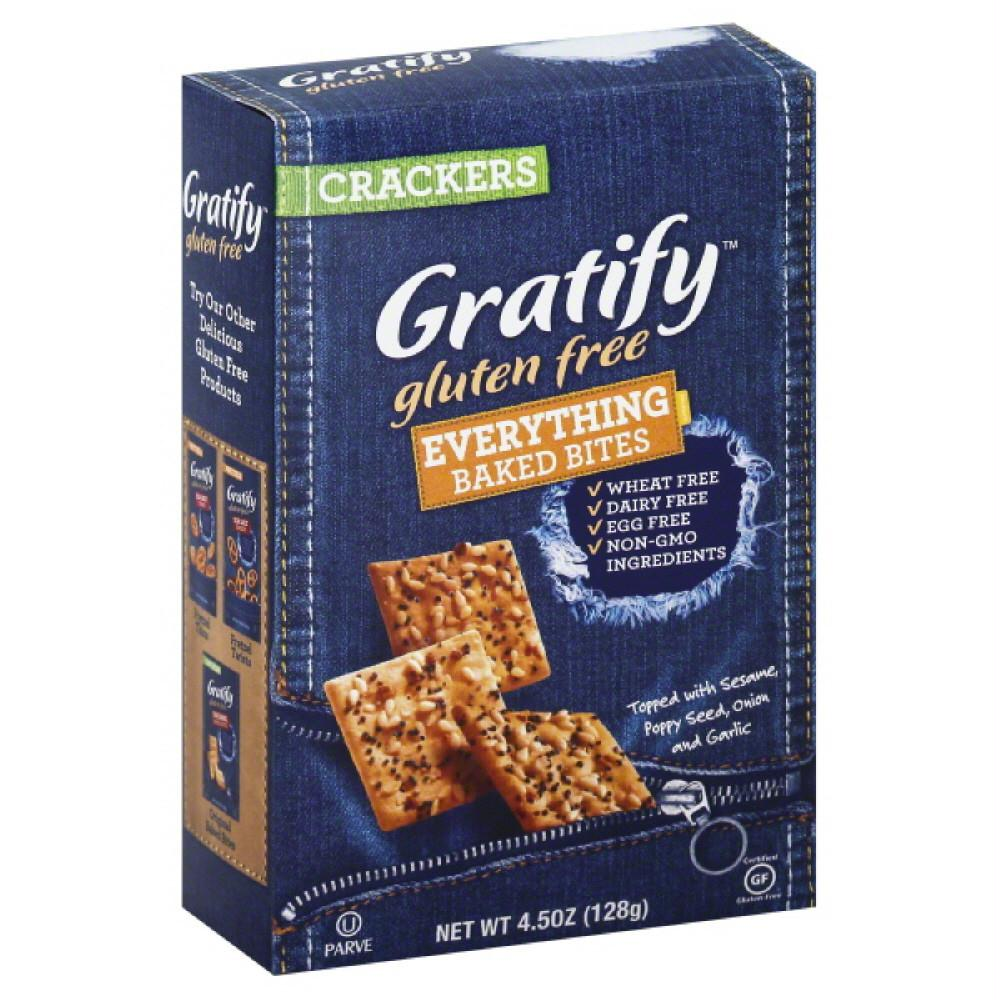 Gratify Everything Baked Bites Crackers, 4.5 Oz (Pack of 12)