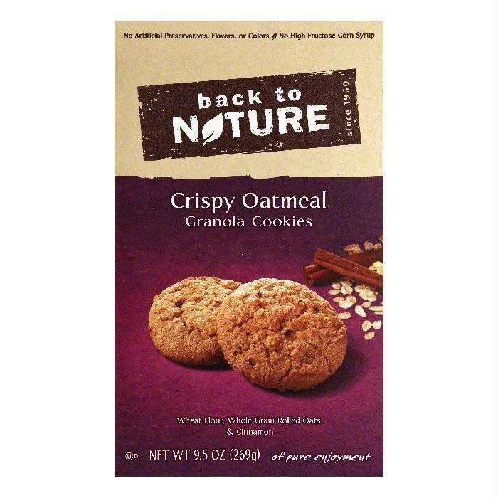 Back To Nature Crispy Oatmeal Granola Cookies, 9.5 OZ (Pack of 6)