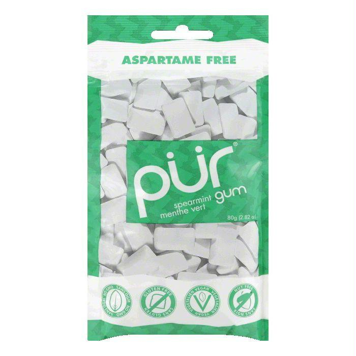 Pur Gum Spearmint Gum 60PC, 2.82 OZ (Pack of 12)