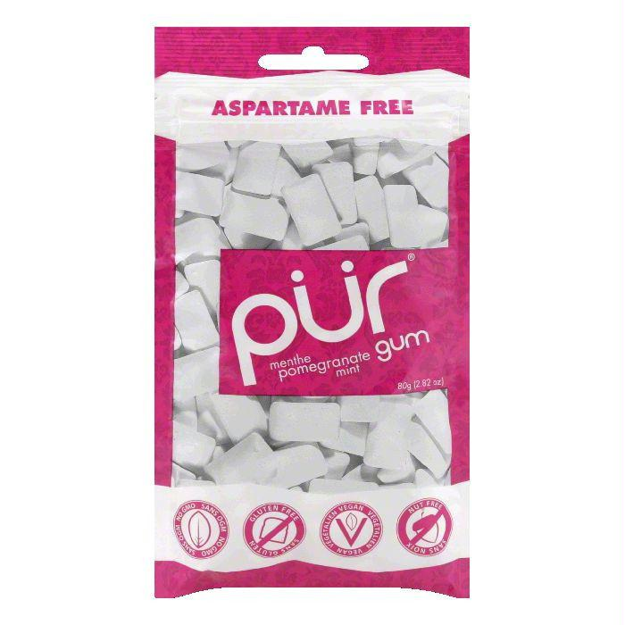 Pur Gum Pomegranate Mint Gum 60PC, 2.82 OZ (Pack of 12)