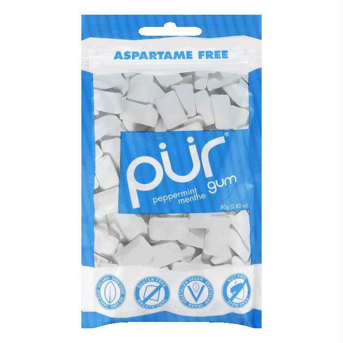 Pur Gum Peppermint Gum 60PC, 2.82 OZ (Pack of 12)