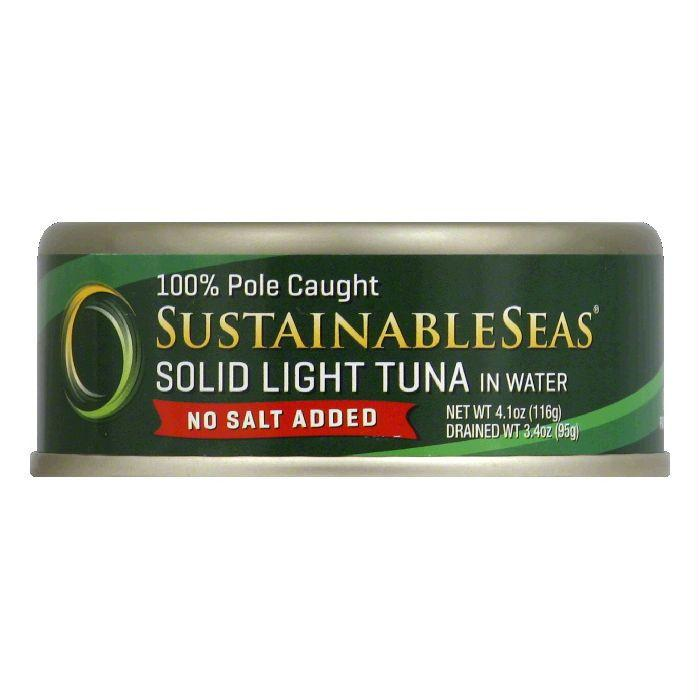 Sustainable Seas in Water No Salt Added Solid Light Tuna, 4.1 Oz (Pack of 12)