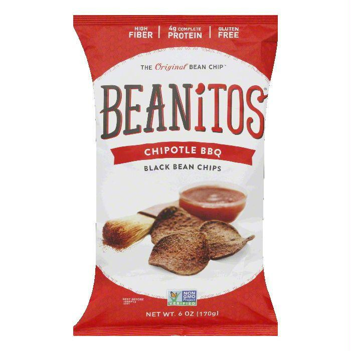 Beanitos Chipotle BBQ Black Bean Chips, 6 OZ (Pack of 6)