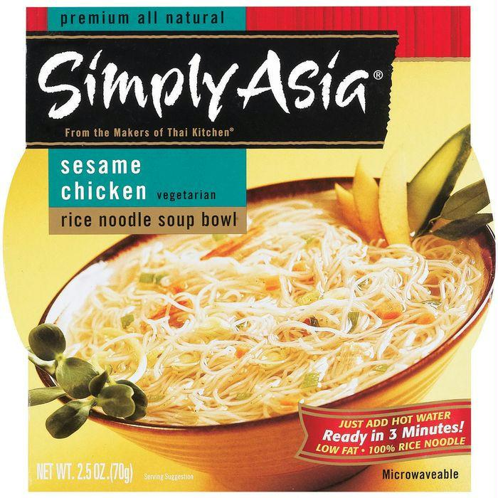 Simply Asia SA Soup Bowl Sesame Chicken Rice Noodle Soup Bowls 2.5 Oz (Pack of 6)