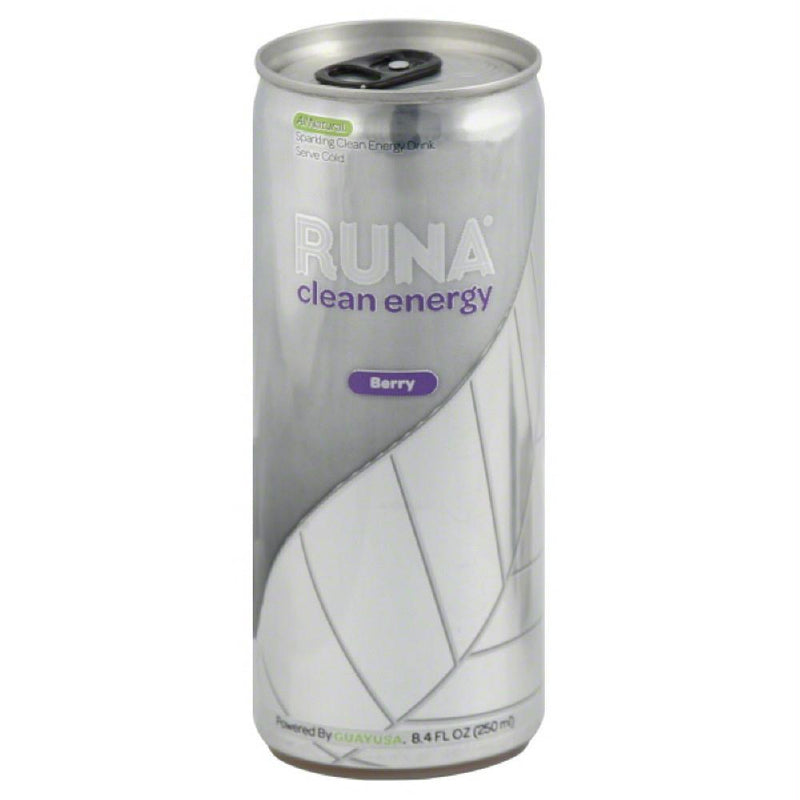 Runa Berry Sparkling Clean Energy Drink, 8.4 Fo (Pack of 24)