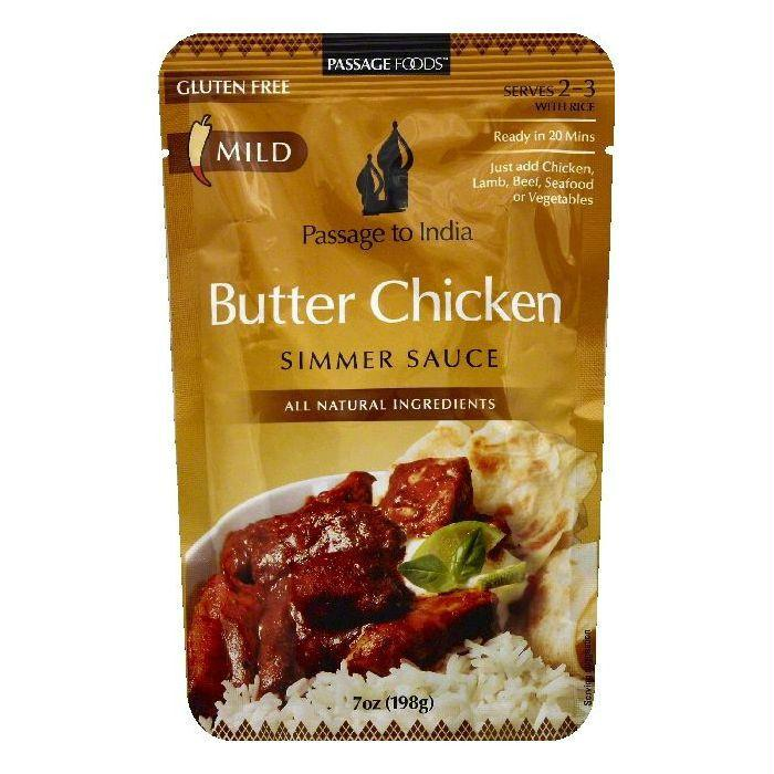 Passage Foods Mild Butter Chicken Simmer Sauce, 7 OZ (Pack of 6)