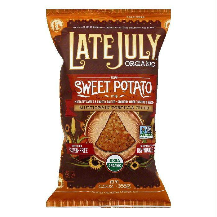 Late July Sweet Potato Chips, 5.5 OZ (Pack of 12)