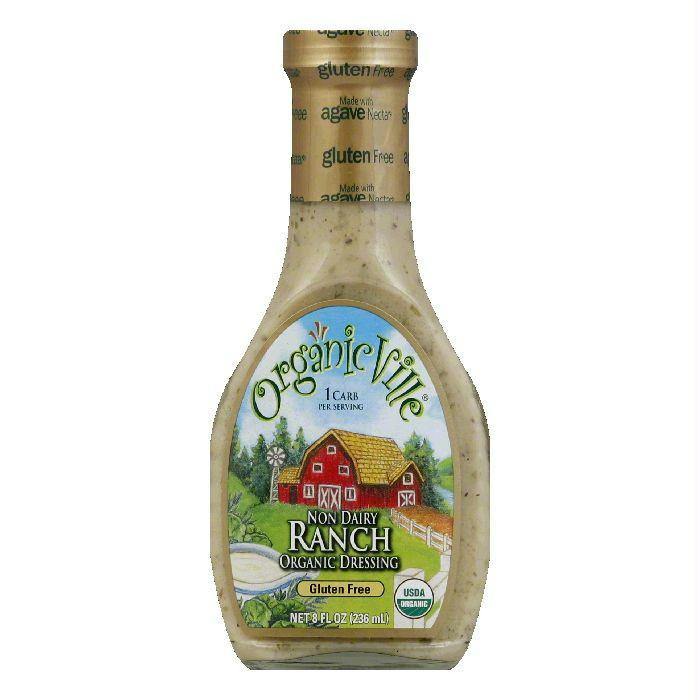 OrganicVille Gluten Free Dressing Non-Dairy Ranch, 8 FO (Pack of 6)