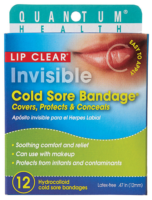 QUANTUM - Invisible Cold Sore Bandage 12 CT