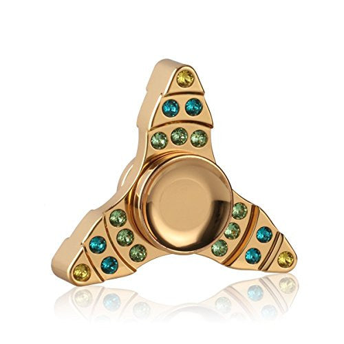 Fidget Spinner Gold Plated With Swarovski Crystals - Veexo.com