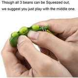 Squeeze-a-Bean Soybean Stress Relieving Key-chain Fidget Toys  (Green - 5 Pcs) - Veexo.com