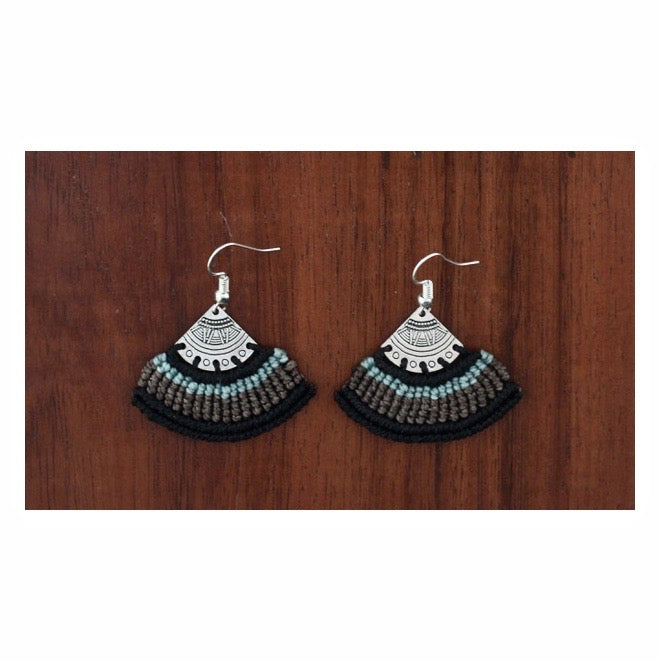Tribal Macrame Earrings