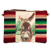 Donkey crossbody with flowers