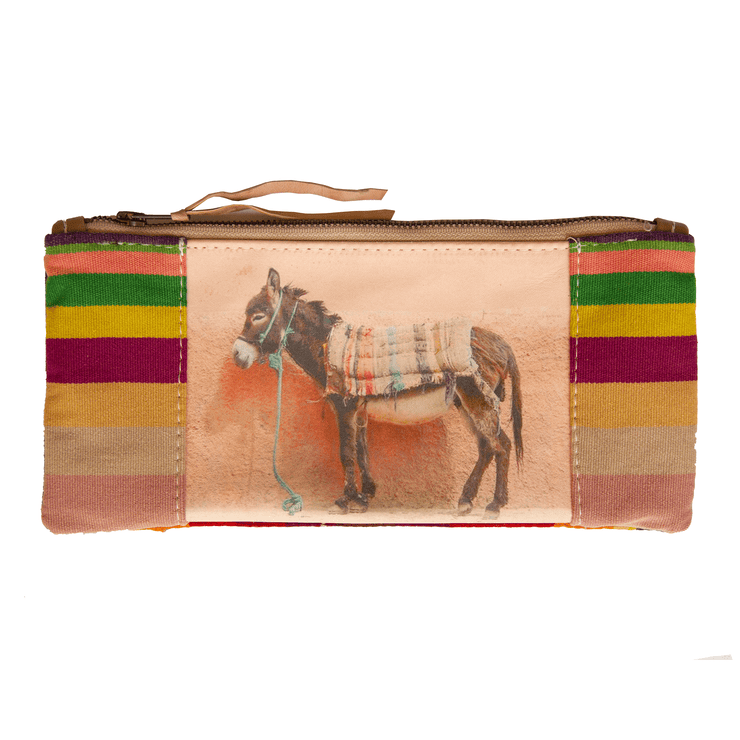 Brown Donkey On Pink Wall Clutch