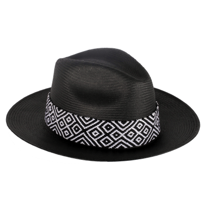 Falcon Hat - Black (Palm & Rice Paper)