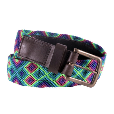 Chiapas Woven Belts- Bright Emerald