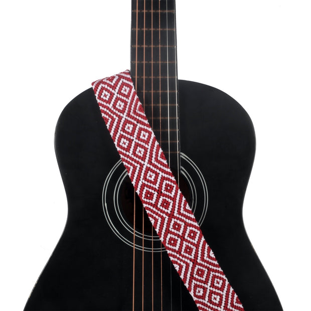 Red Classic Guitar Strap