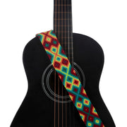 Sunset Red Guitar Strap